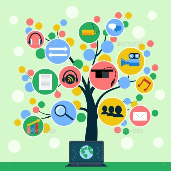 GraphicRiver Internet Application Icons Tree 11384684