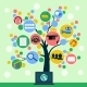 Internet Application Icons Tree - GraphicRiver Item for Sale