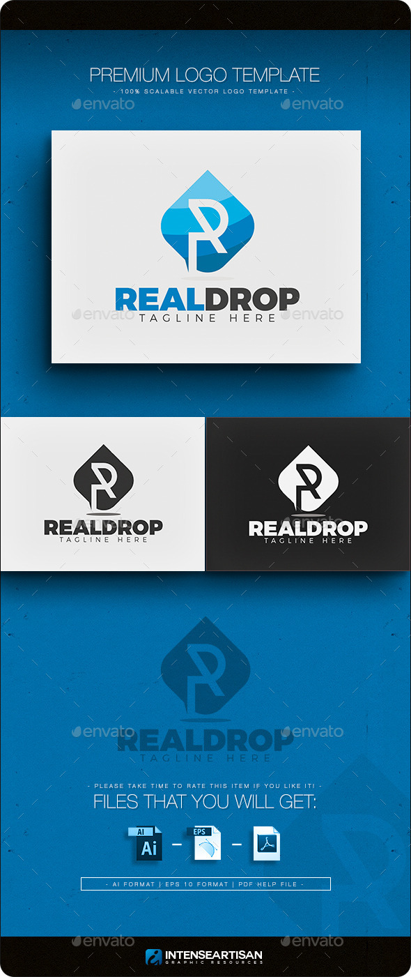 GraphicRiver Real Drop Logo 11384744