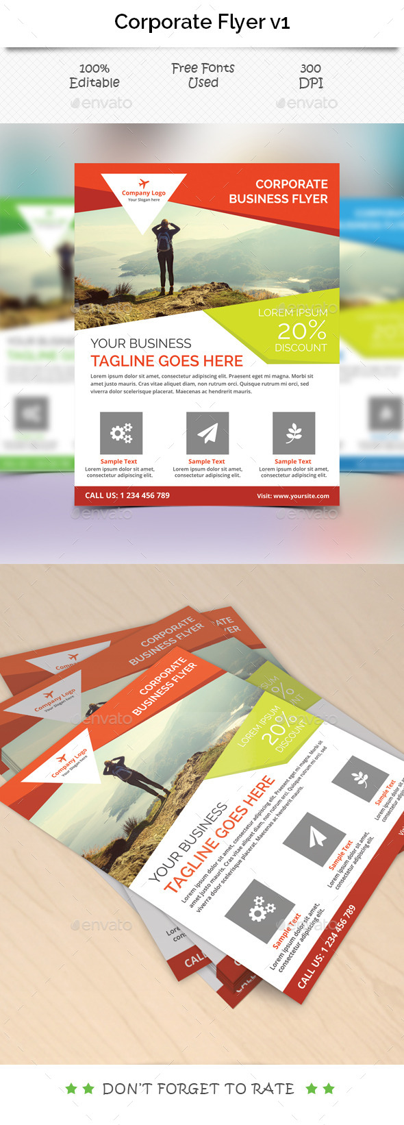 GraphicRiver Corporate Flyer Template V 1 11384776