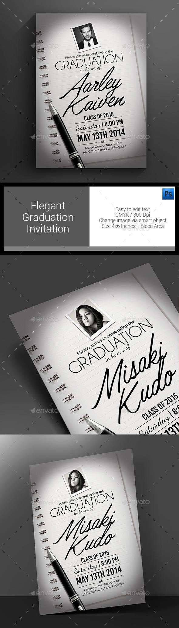 GraphicRiver Elegant Graduation Invitation 11384829