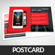 Mobile Apps Business Postcard Template  - GraphicRiver Item for Sale