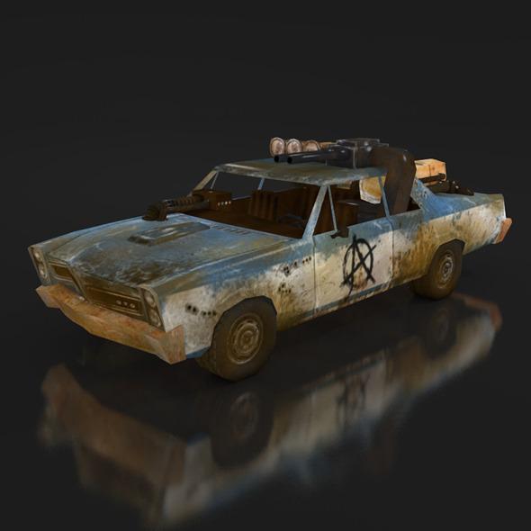postapo Pontiac GTO (1965), LOW POLY - 3DOcean Item for Sale