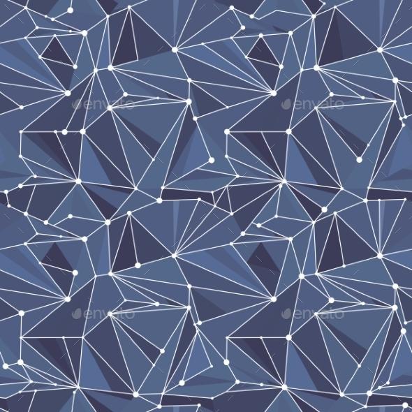 GraphicRiver Indigo Geometric Vector Pattern 11385791