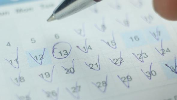 Date in A Calendar 10
