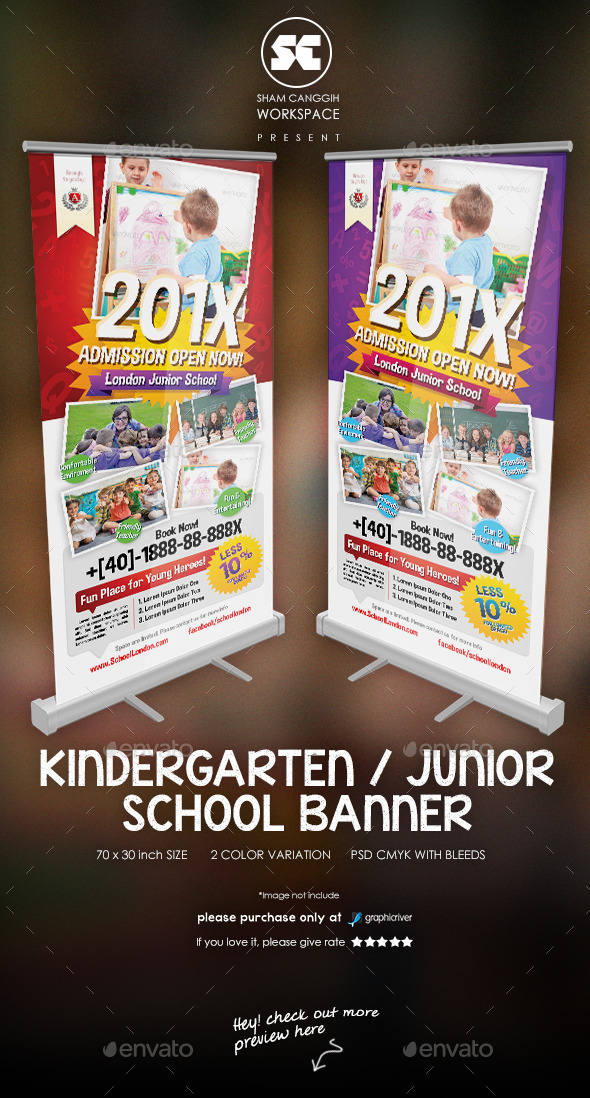GraphicRiver Kindergarten Junior School Banner 11385802