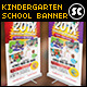 Kindergarten Junior School Banner - GraphicRiver Item for Sale