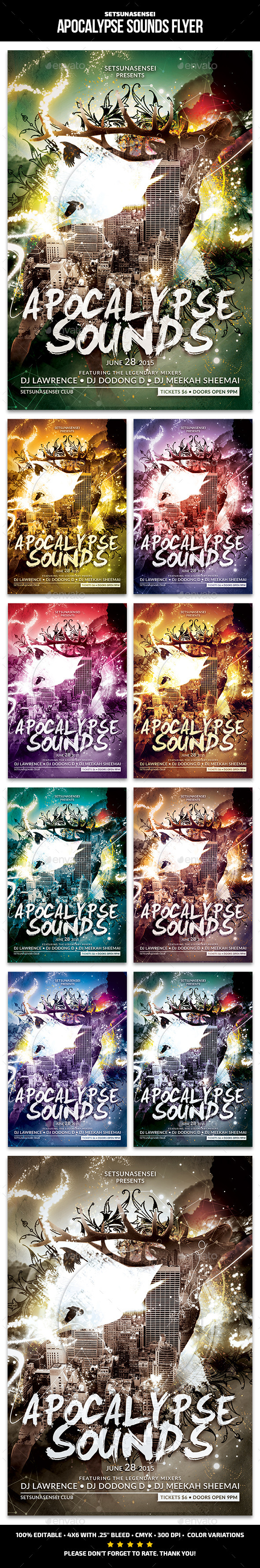 GraphicRiver Apocalypse Sounds Flyer 11386064