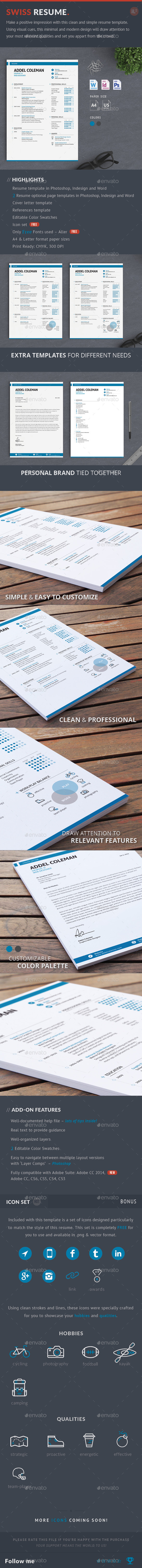 Resume/CV - Swiss - Resumes Stationery