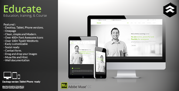 ThemeForest Educate Education Courses Muse Template 11386412