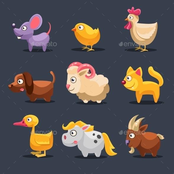 GraphicRiver Illustration of Farm Animals 11386443
