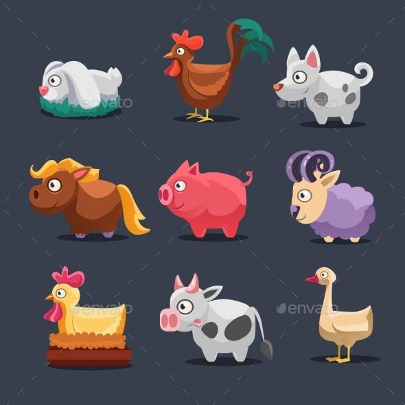 GraphicRiver Illustration Of Farm Animals 11386446