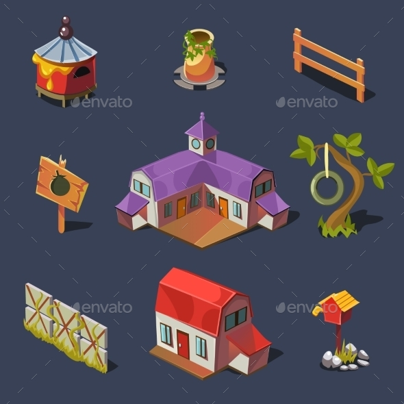 GraphicRiver Farm Big Set Of Design Elements In Modern Flat 11386447