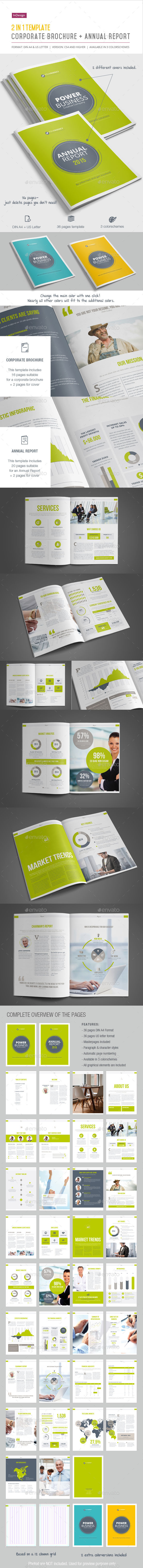 GraphicRiver 2-in-1 Corporate Brochure & Annual Report 11386455