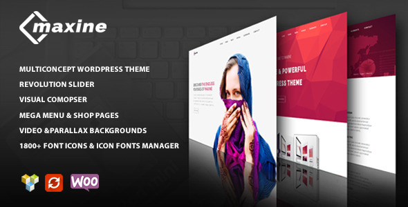 ThemeForest Maxine Multi Concept Wordpress Theme 11386461