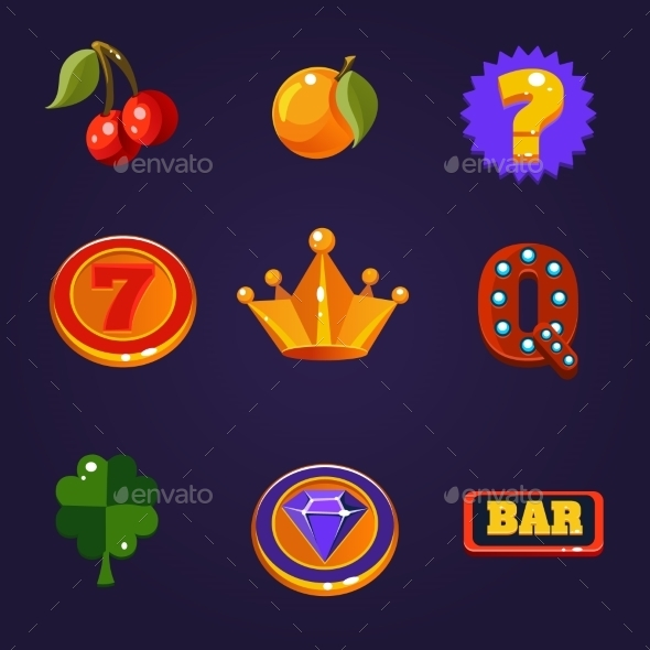 GraphicRiver Slot Machine Symbols Set 11386466
