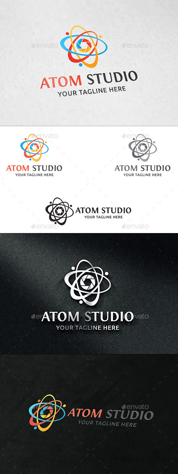 GraphicRiver Atom Studio Logo Template 11386507