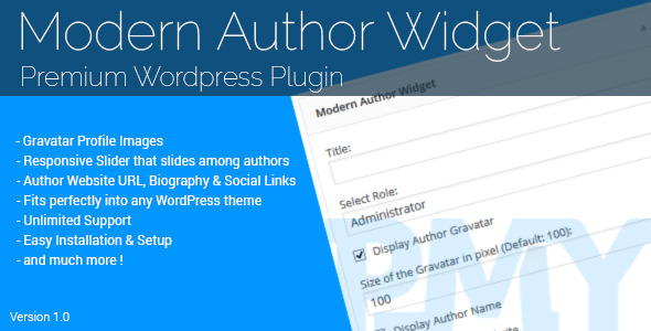 CodeCanyon Modern Author Widget Premium Wordpress Plugin 11386649