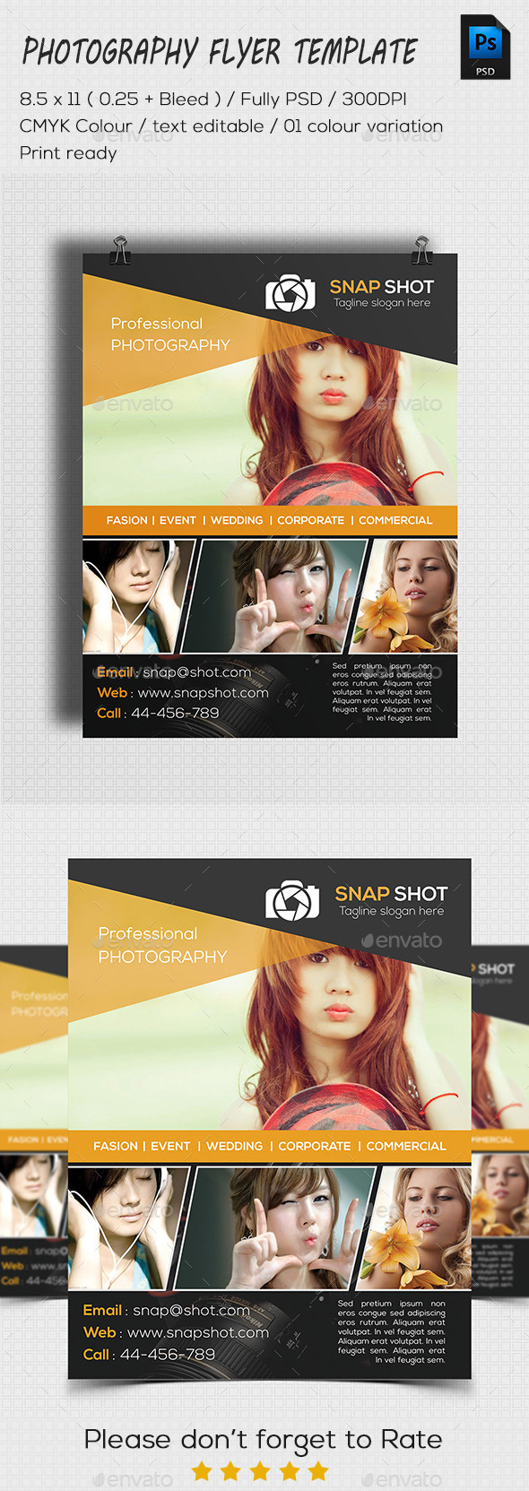 GraphicRiver Photography Flyer Template 11386652