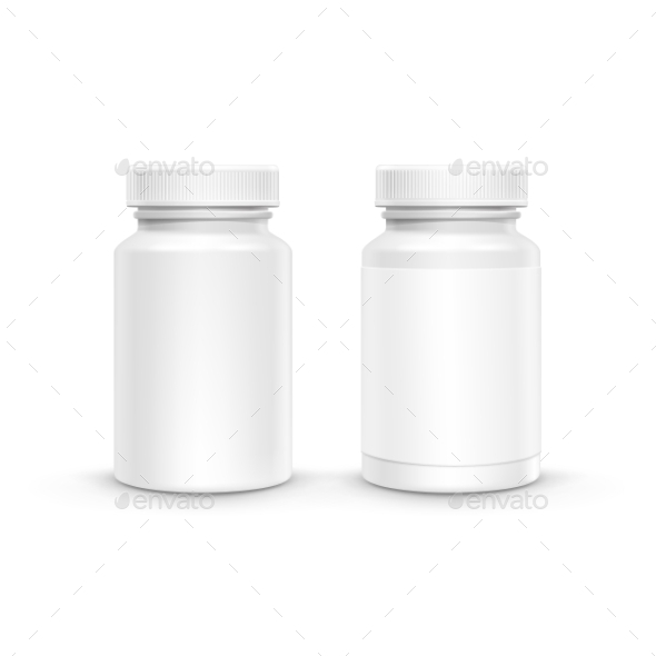 GraphicRiver Vector Blank Plastic Packaging Bottle For Pills 11386674