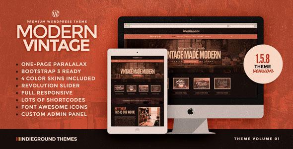 Modern Vintage | One Page WordPress Theme