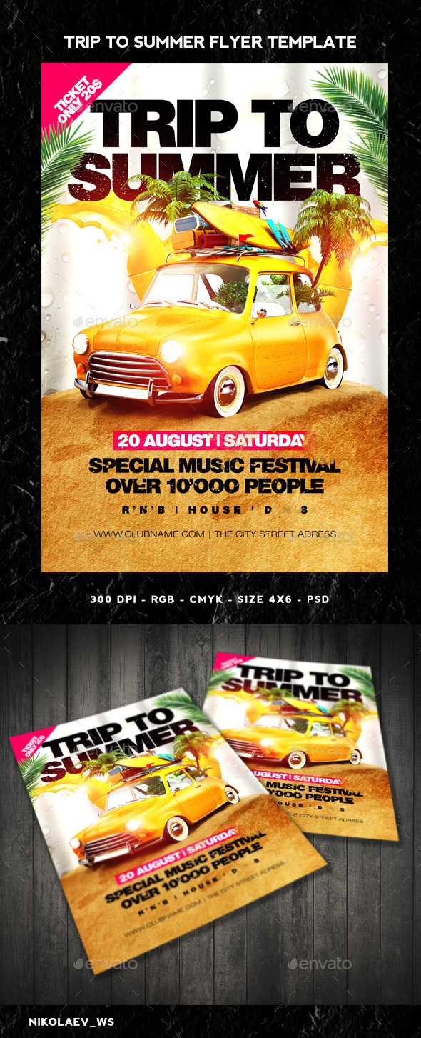 GraphicRiver Trip To Summer Flyer 11322154