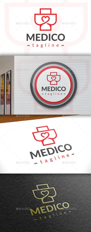 GraphicRiver Medic Love Logo 11386781