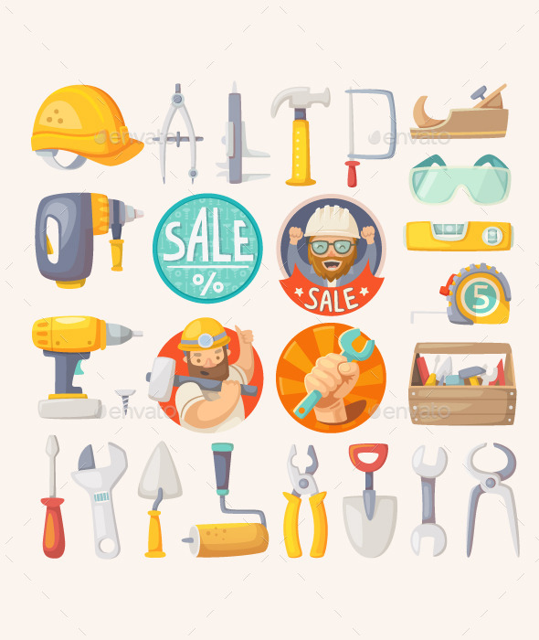 GraphicRiver Collection of House Remodeling Tools 11386787