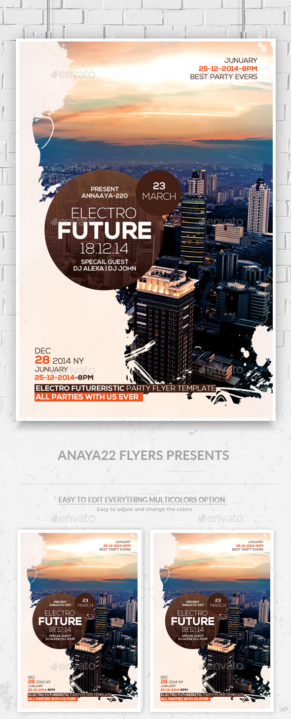 GraphicRiver Future Techno Flyer Psd Template 11386793