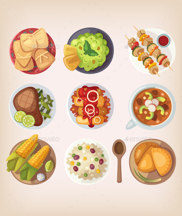 GraphicRiver Mexican Food Icons 11386856