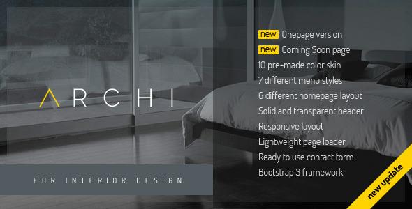 Archi Interior Design Website Template Creative Site Templates