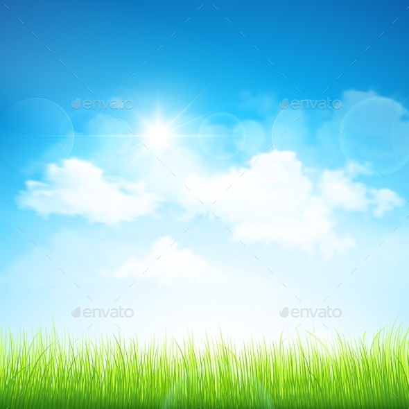 GraphicRiver Green Grass and Blue Sky 11387025