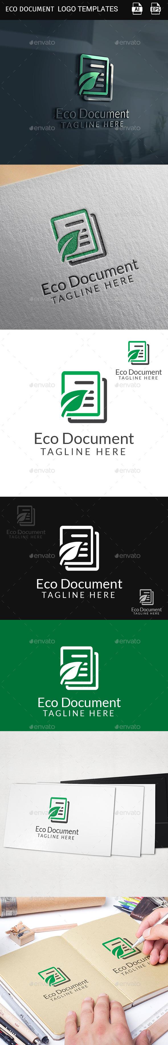 GraphicRiver Eco Document logo template 11387032