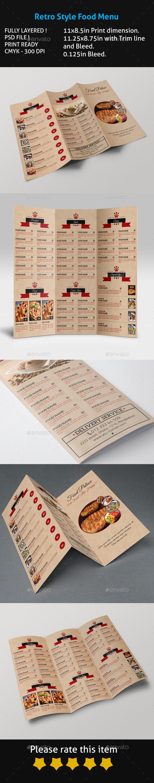 GraphicRiver Retro Style Food Menu 11387156