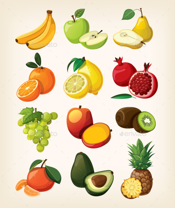GraphicRiver Set of Fruits 11387159