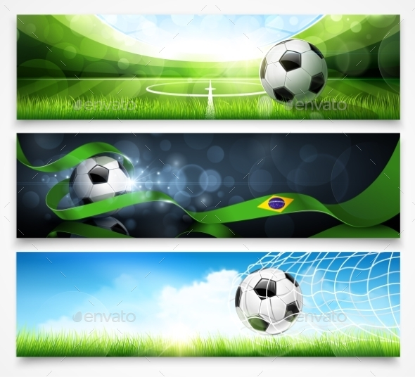GraphicRiver Set of Football Banners 11387165