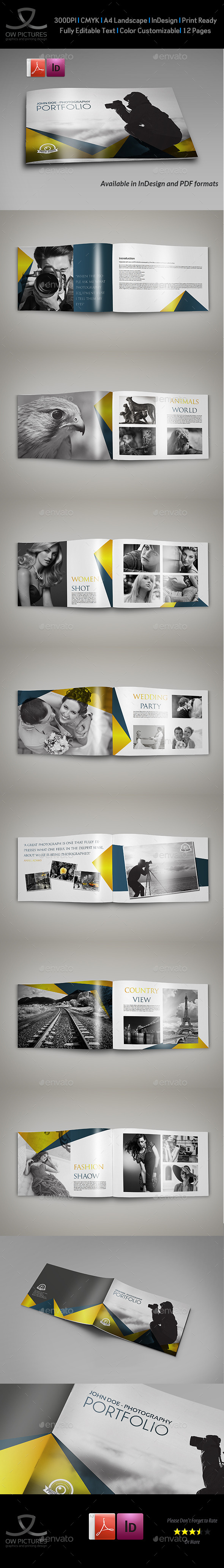 GraphicRiver Photography Portfolio Brochure Template 16 Pages 11322030