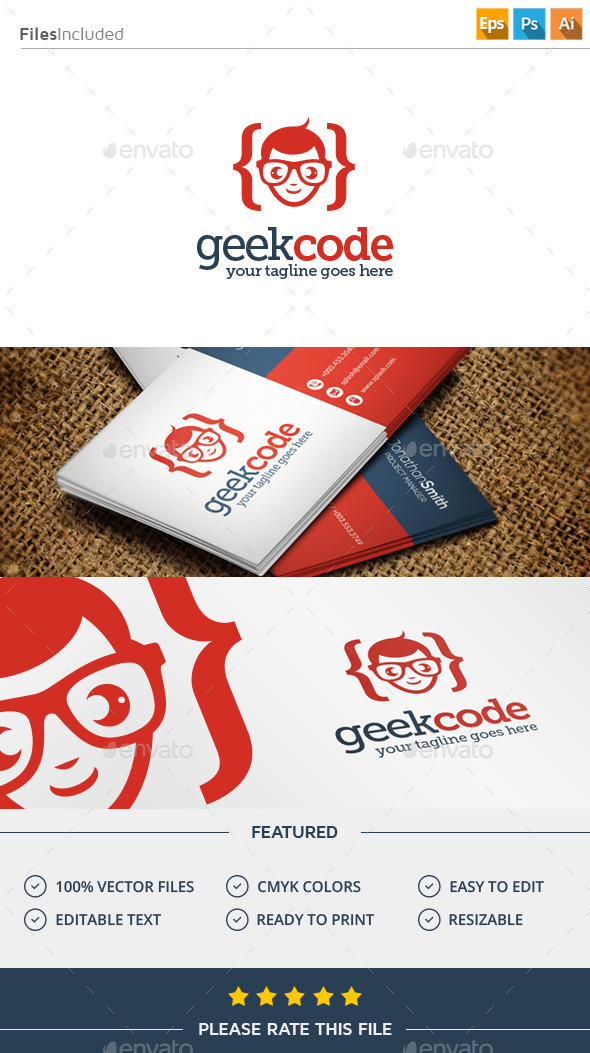 GraphicRiver Geek Code Logo 11387177