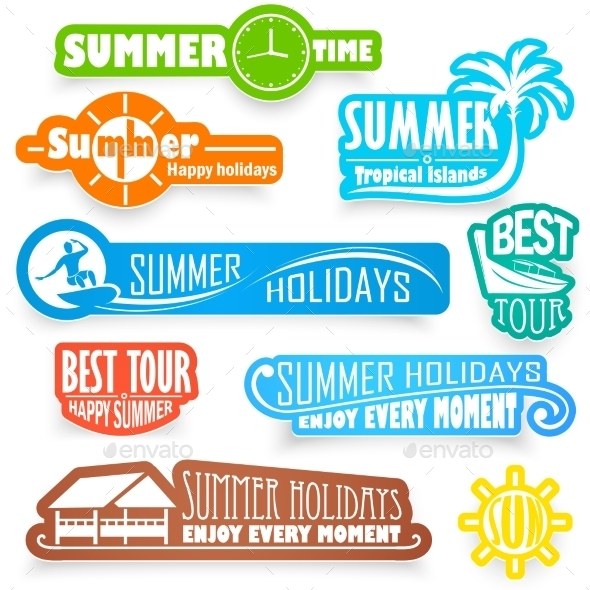 GraphicRiver Summer Labels 11387378