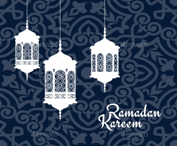 GraphicRiver Hanging Arabic Lanterns For Ramadan Kareem Holiday 11387942