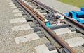 Details of railway bifurcation on the gravel mound - PhotoDune Item for Sale