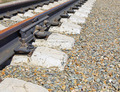 Details of railway track on the gravel mound - PhotoDune Item for Sale