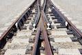 Railway fork on the gravel mound - PhotoDune Item for Sale