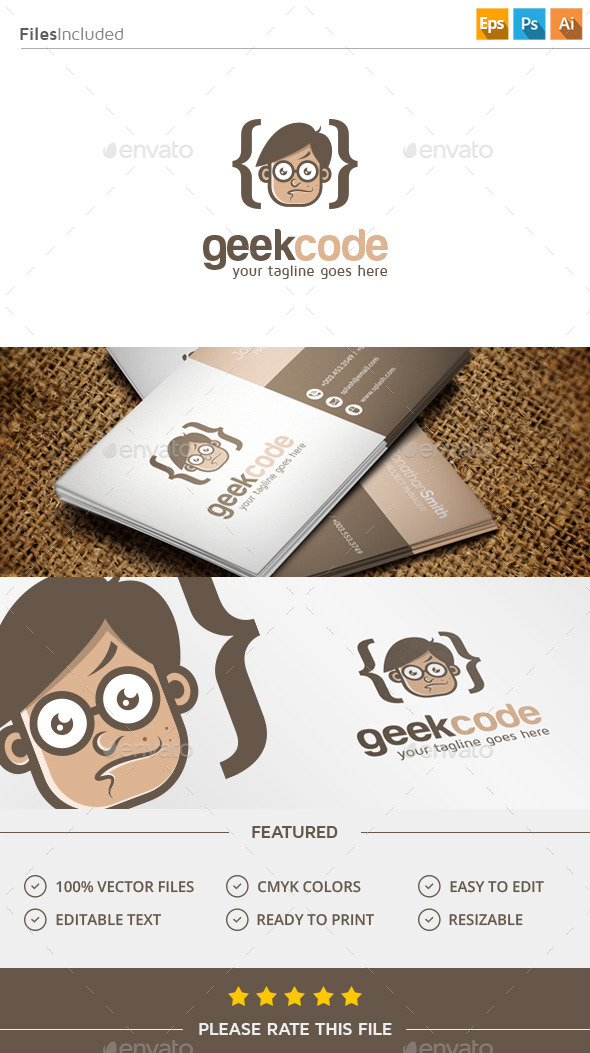 GraphicRiver Geek Code Logo 11388058