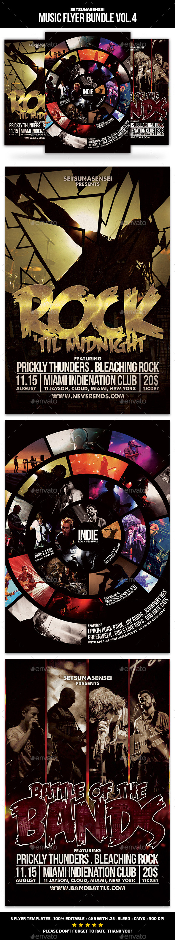 GraphicRiver Music Flyer Bundle Vol 4 11388061