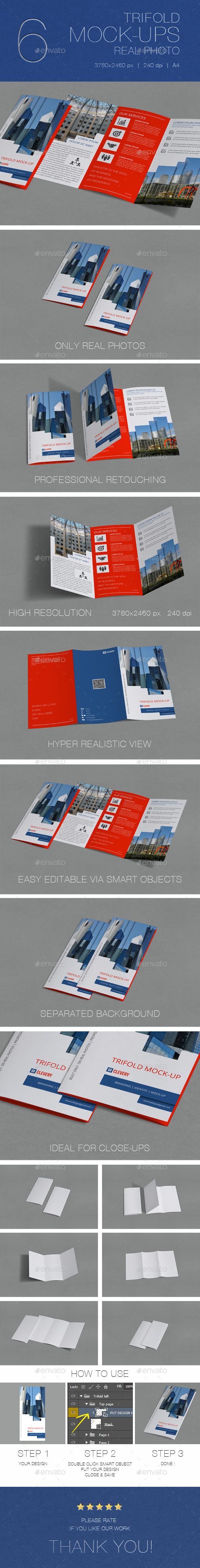 GraphicRiver Trifold Brochure Mock-Up 11388205