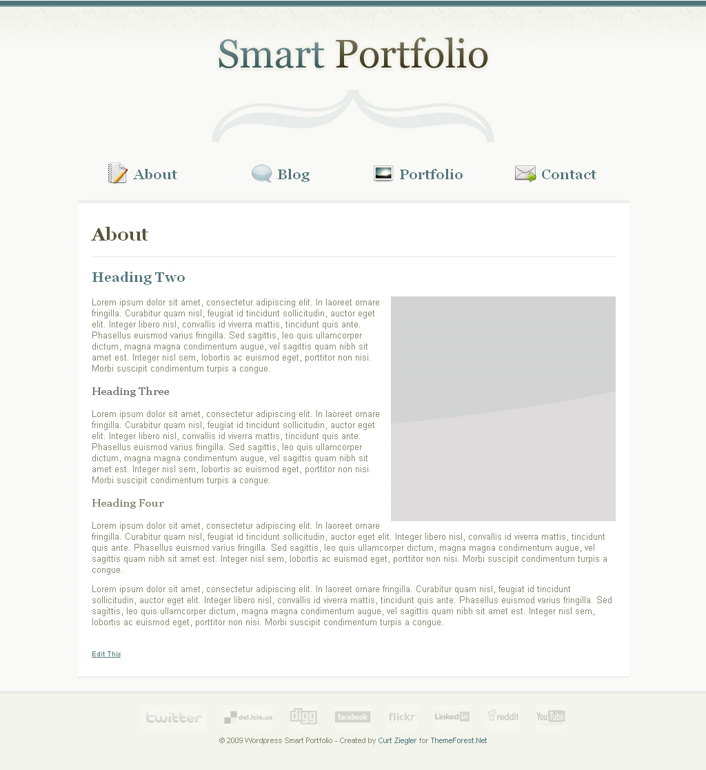 Smart Portfolio - Wordpress Edition