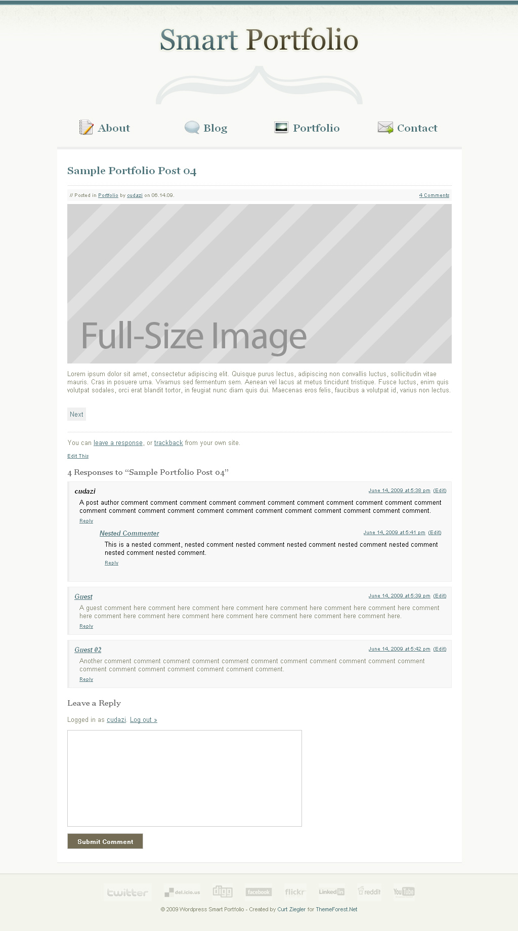 Smart Portfolio - Wordpress Edition