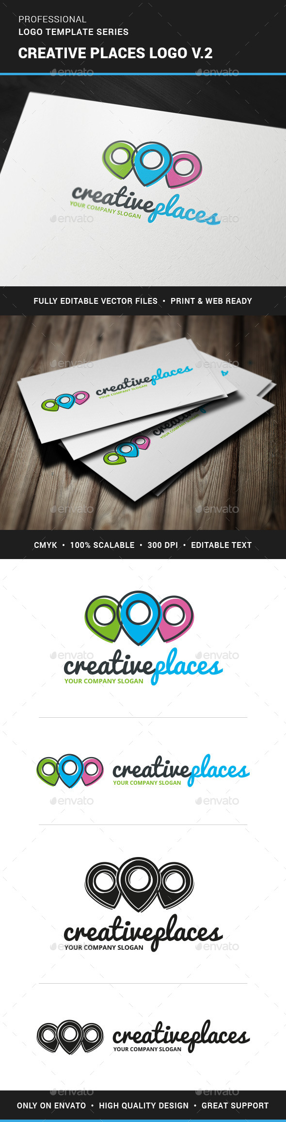 GraphicRiver Creative Places Logo v2 11388278