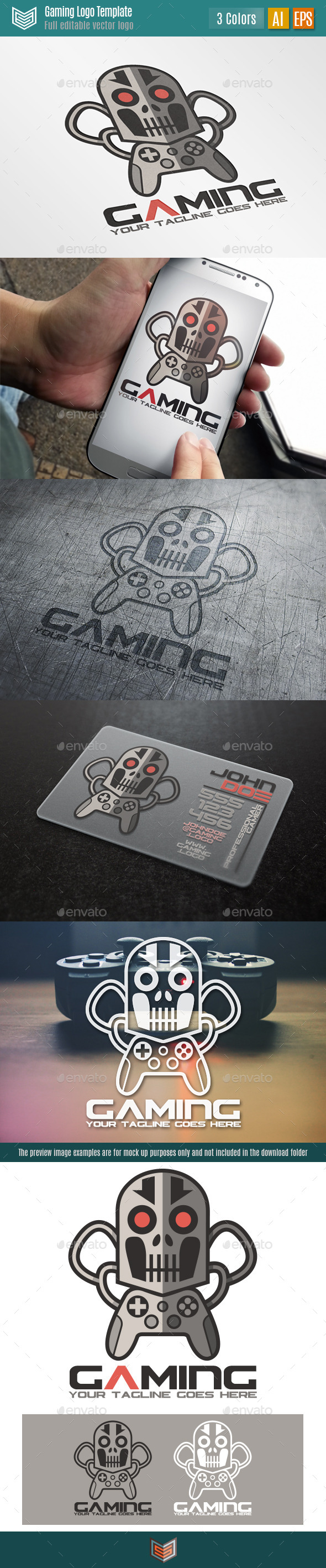 GraphicRiver Gaming Logo 11388303